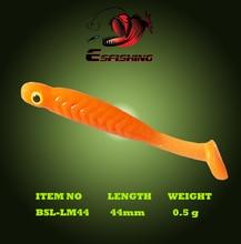 Esfishing Soft lure Swimbait Ice Fishing 12pcs 4.4cm/0.5g Lucky Minnow 1.7″ Fishing Bait Iscas Tackle White Yellow Pink VIB