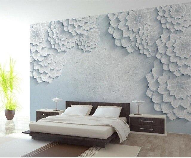 Papel pintado murales flores moderno y simple flores sal n for Papel pintado para el dormitorio adulto moderno