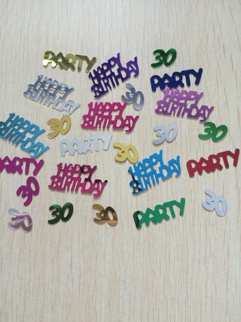 50g 30th Marriage Anniversary Adults Birthday Party Table Decoration Number 30 Sparkle Metallic Foil Confetti