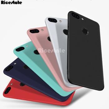 Huawei Honor 8 Pro V9 V10 7C 7A Pro 7X Nova 2S Honor 9 lite Honor 10 lite przezroczysta i solidna tylna pokrywa chroń skórę krzemu skrzynka tanie i dobre opinie Ricestate CN (pochodzenie) Soild Colors Matte soft case Zwykły