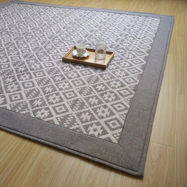 185X185 Cm Grand Carpet Tapis Carré De Sol Carpet Doux Salon