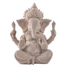 Hot Sale Sandstone Resin Crafts Indian Ganesha Home Decoration Elephant God Statue Sculpture Ornament India Buddhist Craft