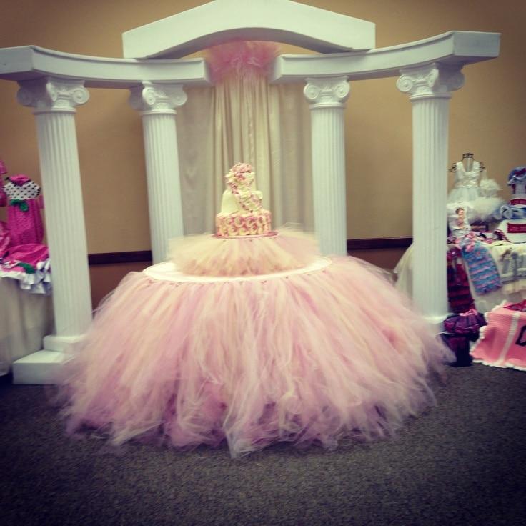 Tulle Tutu Table Skirt For 5FT 60Round TableWeddingBirthdayNew Baby Party Decor Total Length 25ft X 16ft 30x192 On Aliexpress