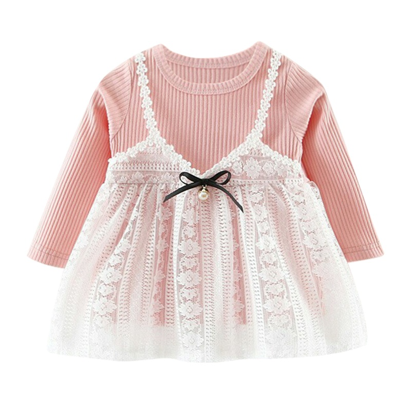 Christmas Girls Dress Vestidos Autumn Toddler Baby Girl Kid Clothes Long Sleeve Party Lace Princess Dress vestido infantil uoipae party dress girls 2018 autumn