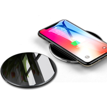 10W Qi Wireless Charger For iPhone 7 X 8 Glass Fast charger Wireless Charging Pad For Samsung Galaxy S9 S8 Plus S7 Note 8 Wirele все цены