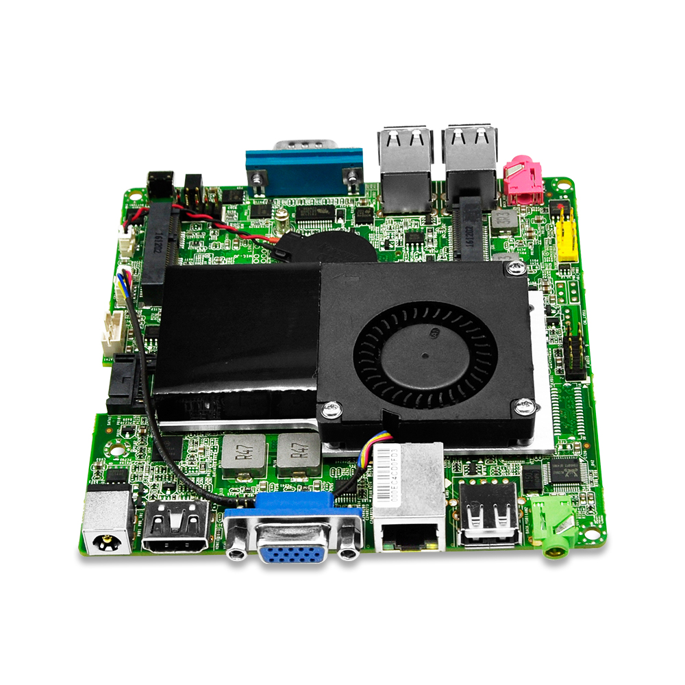 Qotom Mini ITX Motherboard Q1007UG-P with Celeron 1007U Processor onboard, 2 display port, USB, LAN, COM, X86 Mini Motherboard m945m2 945gm 479 motherboard 4com serial board cm1 2 g mini itx industrial motherboard 100