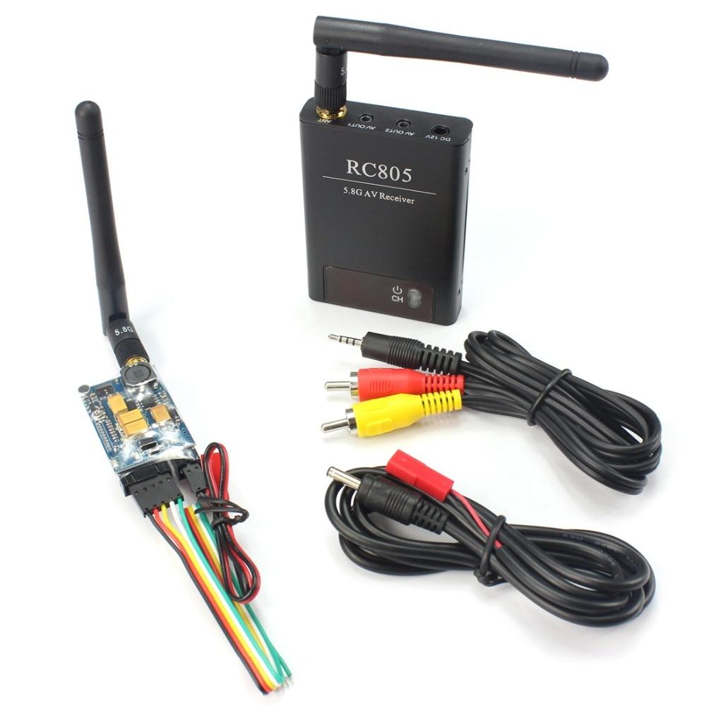 F17957-A BOSCAM 8CH 5.8GHz FPV 200mW Wireless AV TS351 Transmitter 2.0Km Range + RC305 Receiver Set for FPV DIY RC Drone drone boscam 5 8g 2w fpv wireless av transmitter