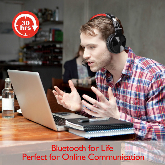 Oneodio Wireless Bluetooth Headphone With Extended Mic HIFI Stereo Wireless Bluetooth 4.1 Gaming Headset For Phone Computer PC