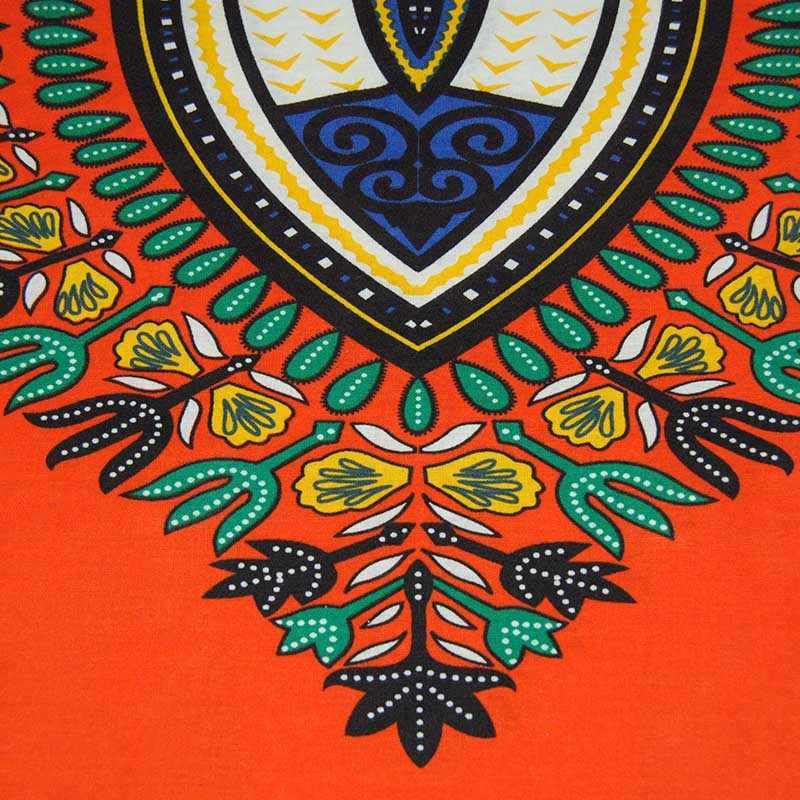 Aproms традиционная африканская одежда для женщин рубашка унисекс оранжевый классический хлопок Дашики топы размера плюс летняя блузка с принтом