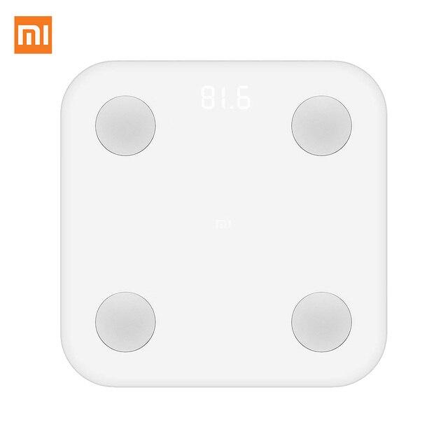 Xiaomi Mi LPN4013GL - Bascula de baño, electrodos de acero inoxidable Blanco