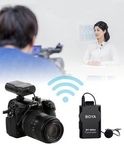Image 5 - BOYA BY WM4 Wireless Lavalier Microfono Sistema di Video Intervista Mic per Canon Nikon Sony DSLR Smartphone iPhone X Samsung Xiaomi