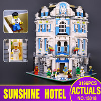 DHL MOC 15018 City Series The Sunshine Hotel Set Building Blocks Bricks Legoinglys Toy for children days' Christmas gift