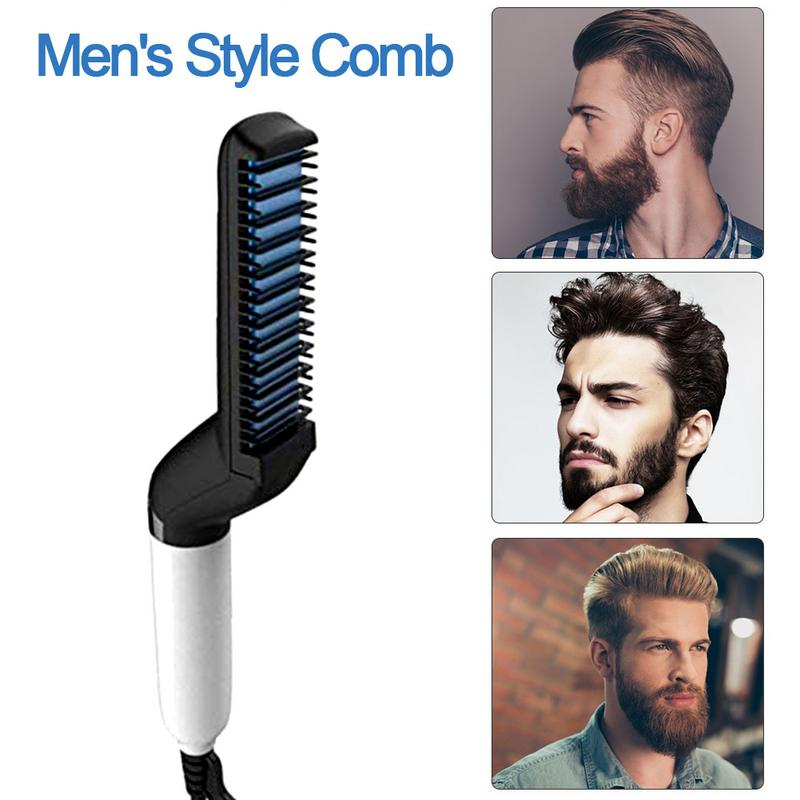 Electric Beard Straightening Comb For Men With Quick Beard Straightener Styler Comb 3