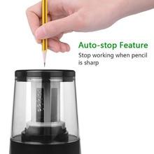 Электрическая точилка для карандашей, сверхмощные спиральные лезвия для быстрой заточки, 6 8 мм, USB или аккумулятор, работает в классе/офисе