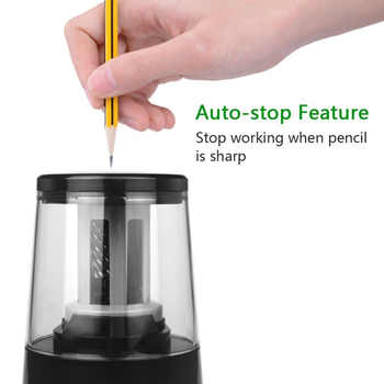 Electric Pencil Sharpener For Heavy-duty Helical Blades to Fast Sharpen 6-8mm USB or Battery Operated in School Classroom/Office - DISCOUNT ITEM  10% OFF All Category