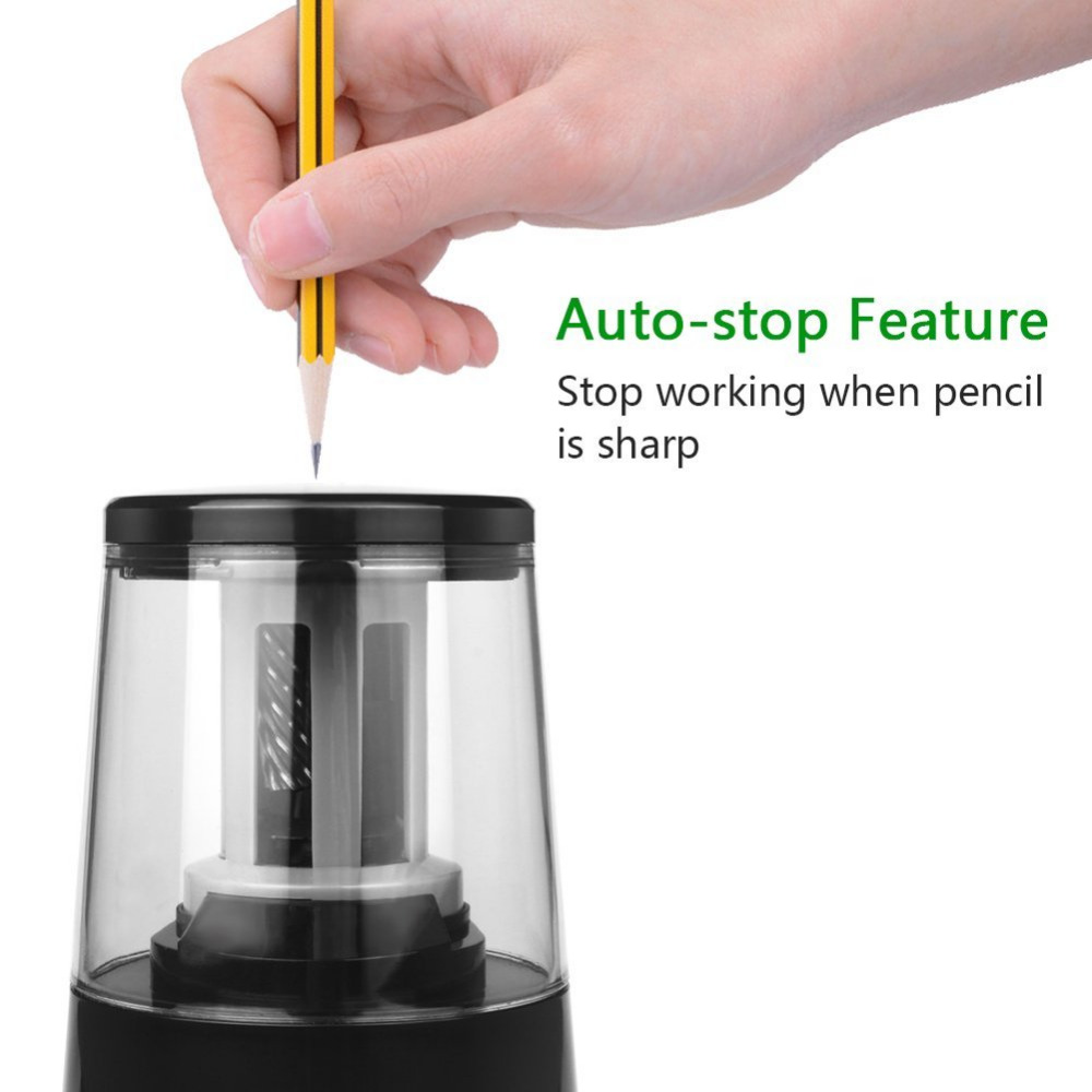 Electric Pencil Sharpener, Heavy-duty Helical Blade to Fast Sharpen (6-8mm) USB or Battery Operated in School Classroom/Office appella 4374 1014 page 1