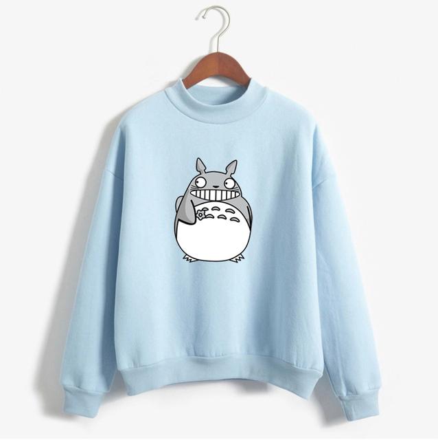 Lovely Cartoon Totoro Hoodies Female Kawaii Sleeved Women Sweatshirts Leisure Sudaderas Mujer 2017 Autumn Winter Cute Wild Tops