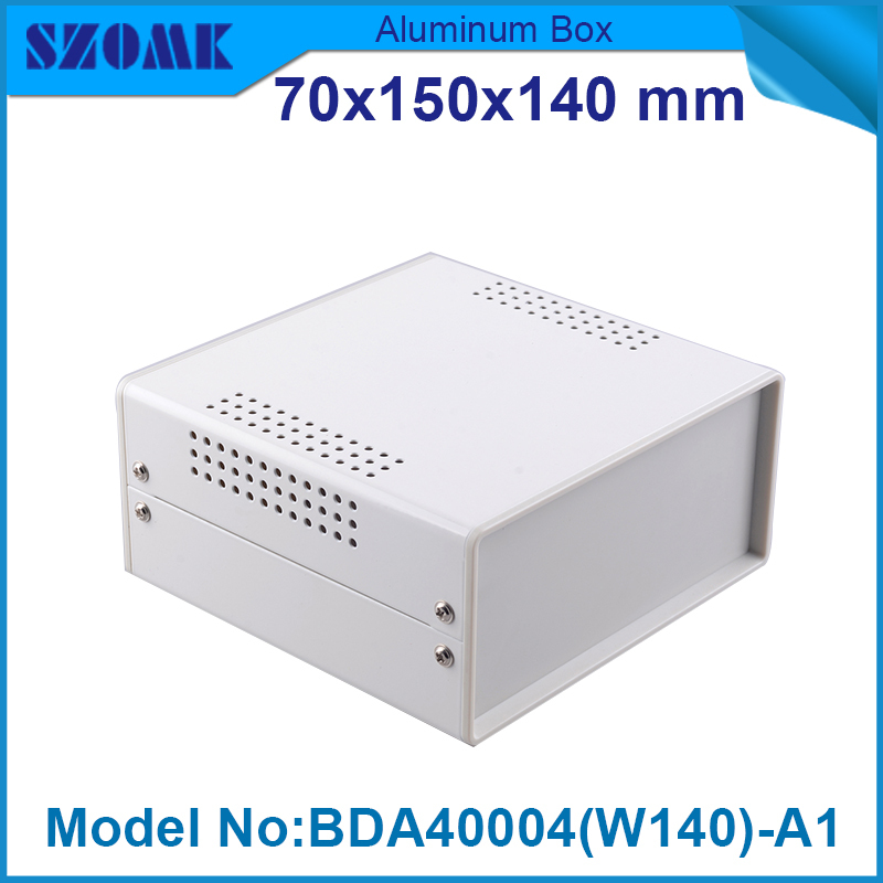 1 piece distribution instrument case housing high quality black and white color 69x149x140 mm surface with Vents 1 piece free shipping anodizing aluminium amplifiers black wall mounted distribution case 80x234x250mm