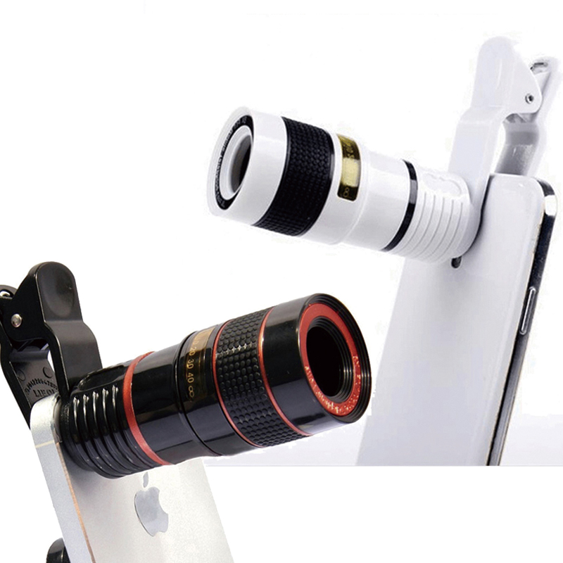 plumgal Telephoto lens 12X Telescope Zoom Mobile Phone Lens for iphone Samsung Smartphones Universal Clip Phone Camera Lens