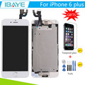 For iPhone 6 Plus LCD Display for Iphone6 plus lcd touch screen Digitizer +home button+camera Assembly  + Tools Glass Gift