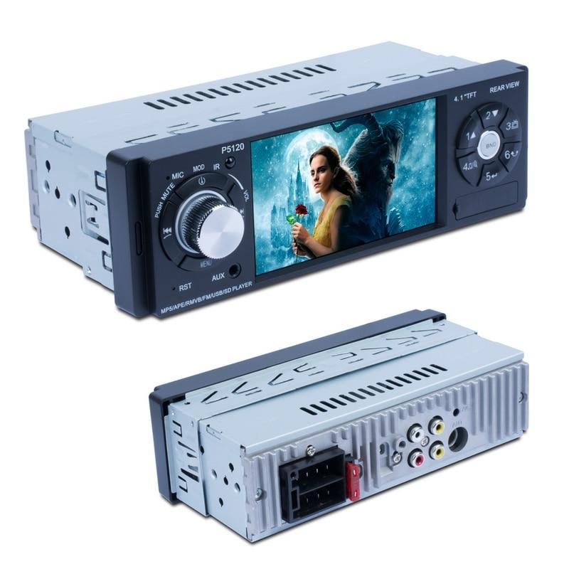 4,1 дюймов Автомобильный Радио Vedio плеер Поддержка fm-передатчик USB 2,0 Bluetooth авто MP3 плеер с камерой заднего вида 2 способа Видео выход