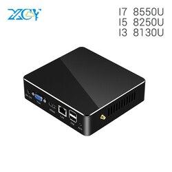 XCY 8th Gen Quad Core Mini PC DDR4 Intel Core i5 8250U i7 8550U i3 8130U 4K UHD gráficos 620 Wifi HDMI Mini juegos de ordenador PC