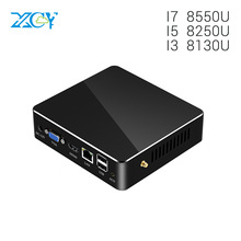 XCY Newest Kaby Lake R 8th Gen Quad Core Mini PC Intel Core i5 8250U i7 8550U i3 8130U UHD Graphics 620 Wifi HDMI Mini Computer partaker game killer mini pc computer intel quad core i7 6700hq gtx 960m gddr5 4gb video ram 1 hdmi 1 dp 1 type c s pdif 5g wifi