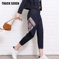 TRACK SEVEN Unique Design Women Haren Pants H5325 National Style Spring Low Waist Plug Size Lady