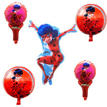 1   pc lovely ladybug princess balloon birthday party decoration girls lovely toys wholesale. башмачки кожаные lovely princess