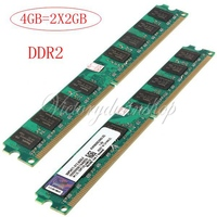2PCS 2GB DDR2 800MHz PC2 6400 240PIN DIMM For Computer Desktop PC AMD Motherboard Memory RAM