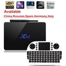 X92 Android 6.0 TV Box Max 3 GB/32 GB X92 Amlogic S912 Octa base 5G Wifi 4 K Smart Set Top Box BT 3D HD Media player PK X96 A95X