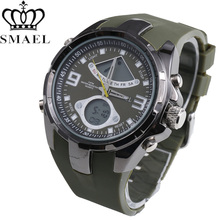 SMAEL Military Men's Watch Chronograph Sport Automatic Watches For Men S Shock Famous Brand Ride Outdoors Wristwatch Reloj Mujer