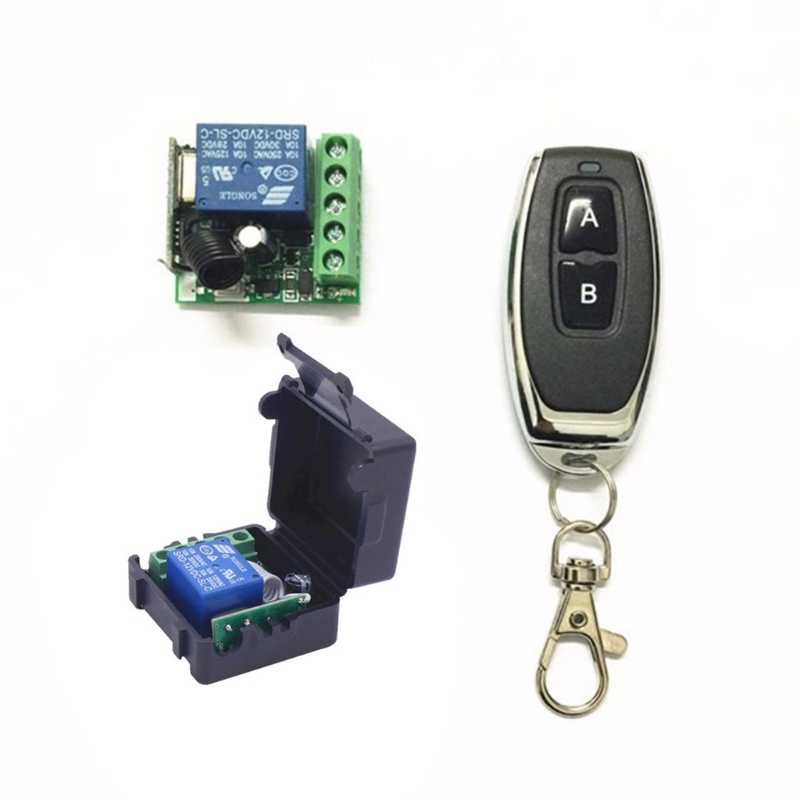 433Mhz Universal Wireless Remote Control Switch DC 12V 1CH Relay Receiver Module RF Transmitter 433 Mhz Remote Controls