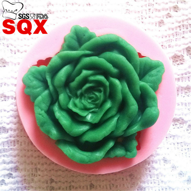 Single flowers Mini Silicone Cake Mold Fondant Candy Chocolate Mold Bakeware Kitchen Accessories SQ1495