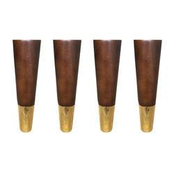 4,8x19x2,5 см простые Стильные резиновые деревянные ножки мебель для шкафа ножки для стола с железной пластиной и винтами