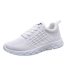 Men running shoes casual Breathable sneakers fashion comfortable lightweight sport and lifestyle white black