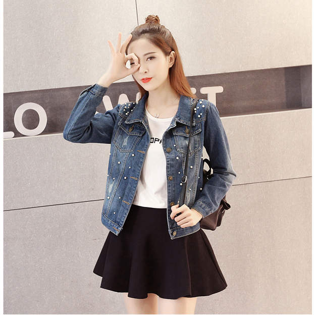 ae374aecd9d placeholder S-5XL Plus Size Jeans Jacket Oversized Denim Women Jacket 2018  Spring Jeans Coats Outwear