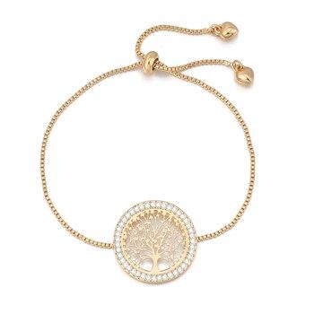 Bracelet Arbre De Vie En Or