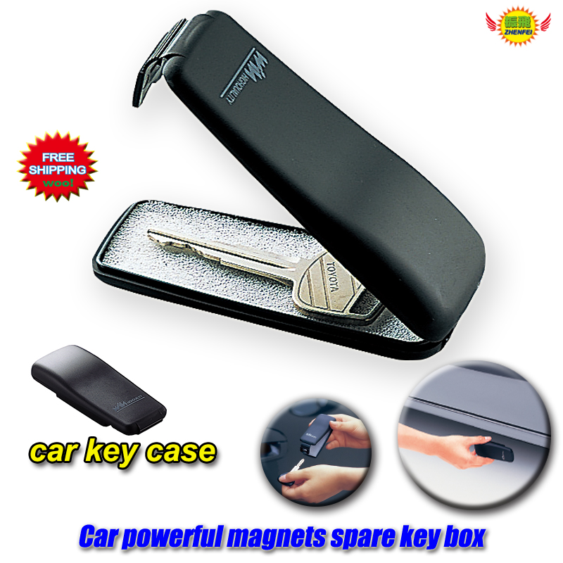 Magnet Clamshell Key-Case Key-Protection-Cover Powerful Spare Emergency Automobile Car-Accessories