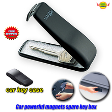Car Accessories Powerful magnet clamshell automobile spare emergency key boxes net Key Protection Cover case