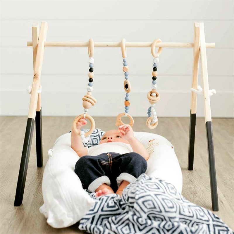 Ins Nordic Wooden Fitness Equipment Fitness Frame Baby Gym Newborn Baby Children s Room Decoration Crafts