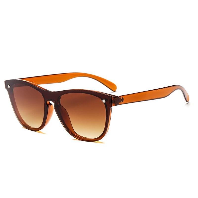 2018 New Fashion Cat Eye Sunglasses Women Men Ladies Vintage Plate Lens Shades Rimless Retro Sun Glasses Mirror Oculos Gafas