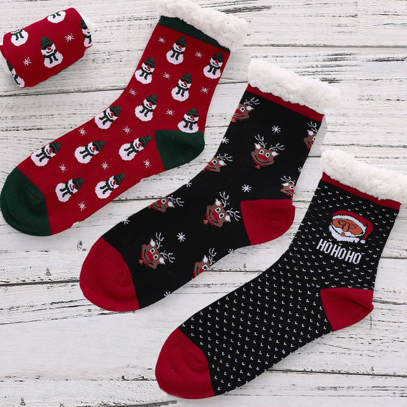 Womens Christmas Gifts 2019.Us 2 86 16 Off High Quality Women S Sock Christmas Style Winter Warm Socks For Girl Christmas Gift 2019 New Year Women Wool Cashmere Thick Sock In
