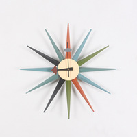 New Modern Fashion Watch Wooden Quartz Needle Wall Clock Horloge Real Big 48CM Wall Clock Home Decoration Simple Clock Watches