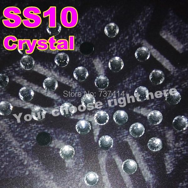 6 tašek / šarže, nejlepší lesk DMC Hotfix drahokamu, ss10 Barva White Clear Crystal Hot Fix kameny s lepidlem