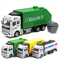 Garbage Truck Model Toy1:32 Scale Diecast Trucks Fire Truck Model Camiones a Escala maket Arabalar Diecast Toy Vehicles  W053