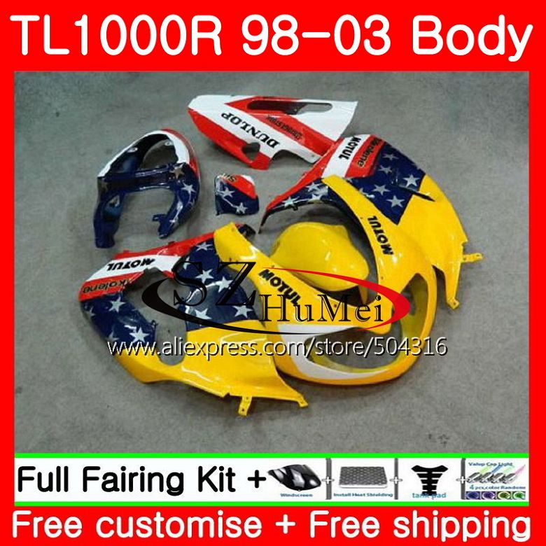 Motorcycle Accessories & Parts Ambitious Yellow White Body For Suzuki Tl1000 R Tl 1000 R Tl1000r 98 99 00 01 02 03 41sh6 Tl 1000r 1998 1999 2000 2001 2002 2003 Fairings Automobiles & Motorcycles
