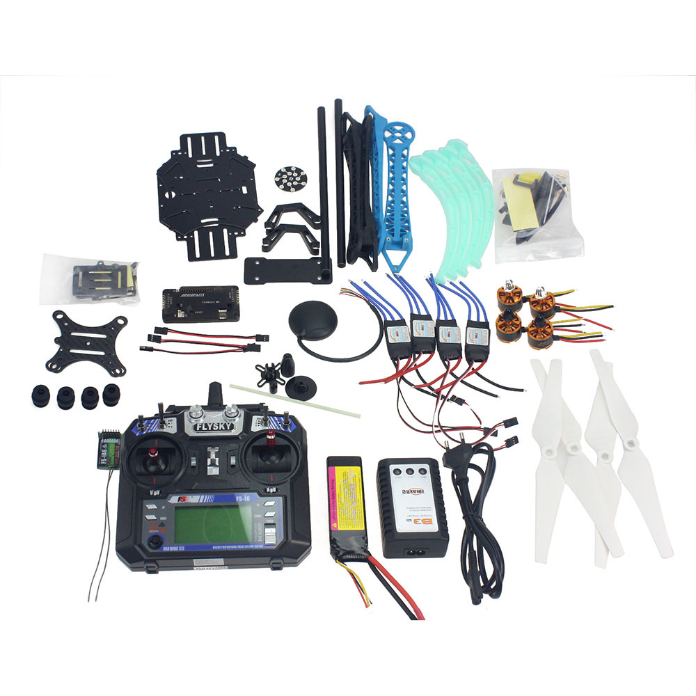 Full Set RC Drone Quadrocopter Aircraft Kit 500mm Multi-Rotor Air Frame 6M GPS APM2.8 Flight Control Gimbal PTZ F08151-I f11859 f full set drone quadrocopter aircraft kit 300h 300mm frame 6m gps apm 2 8flight control flysky fs i6 transmitter