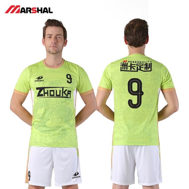 305fa4744bb Zhouka Green 2018-2019 Football Jersey Survetement Football Uniform Shirts  Tops Breathable Customized Your Name