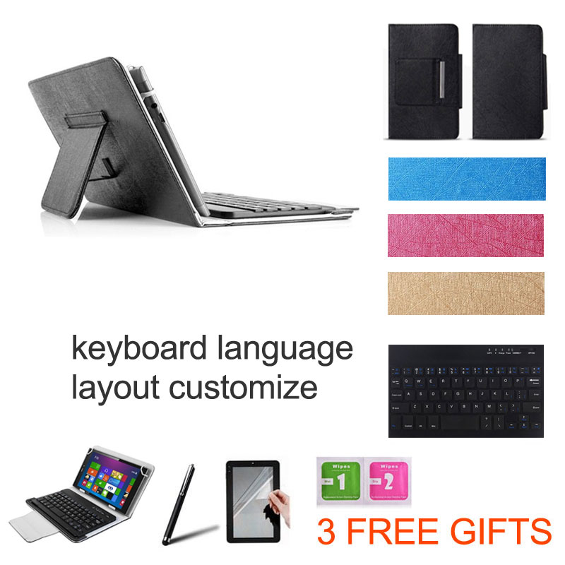 2 Gifts 10.1 inch UNIVERSAL Wireless Bluetooth Keyboard Case for intego PX-1015  Keyboard Language Layout Customize intego vx 225hd